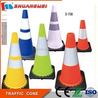 Customized roadwork multi-color reflective soft PVC 450mm warning traffic cone