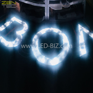 Custom Outdoor Indoor Programmable Pixel Animated Led Light Logo Dynamic RGB Sign