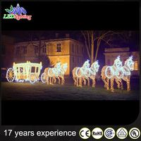 Chinese manufacturer waterproof led acrylic horse sleigh christmas decoration