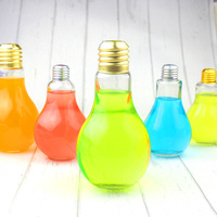 Eco-friendly colorful LED light bulb shaped ,Drinking glass bottle