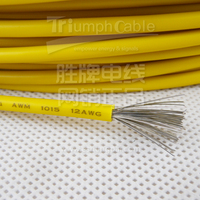 Pvc coated copper strand elecrtric cable wire UL 1015 1007