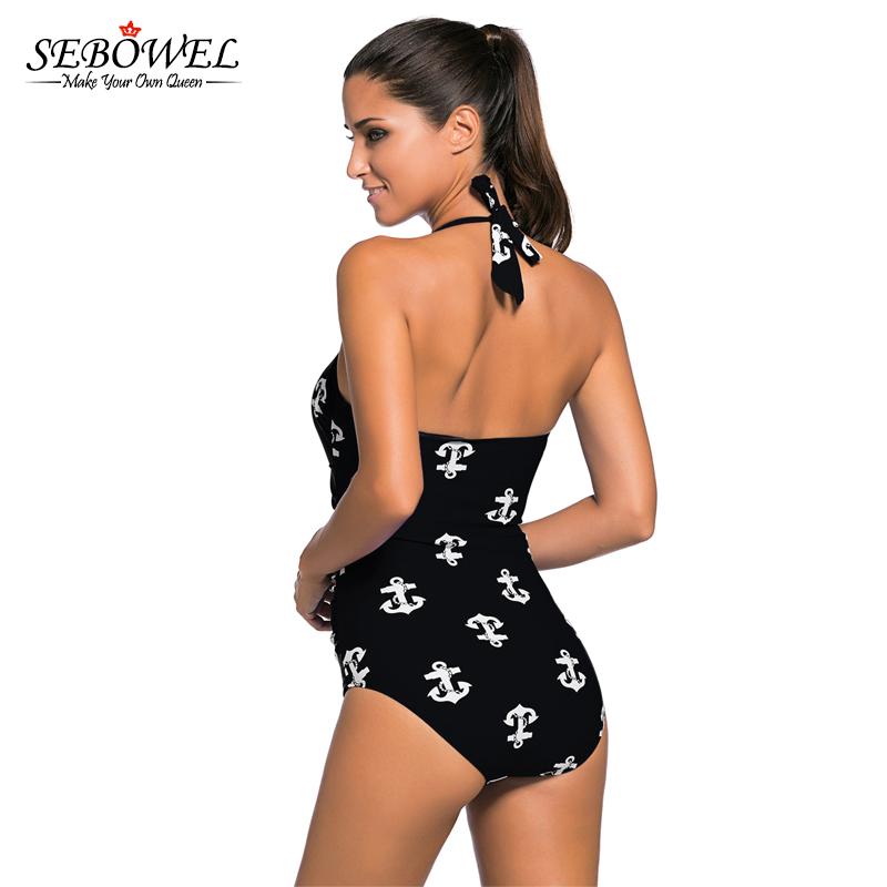0b938814c2978 2019 SEBOWEL Plus Size Vintage One Piece Swimsuit Polka Dot Women ...