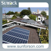 5kw,10kw ,15kw commercial asphalt shingle roof pv solar mounting