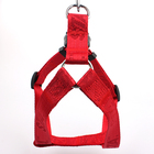 Jacquard woven logo small pet puppy dog outdoor harness