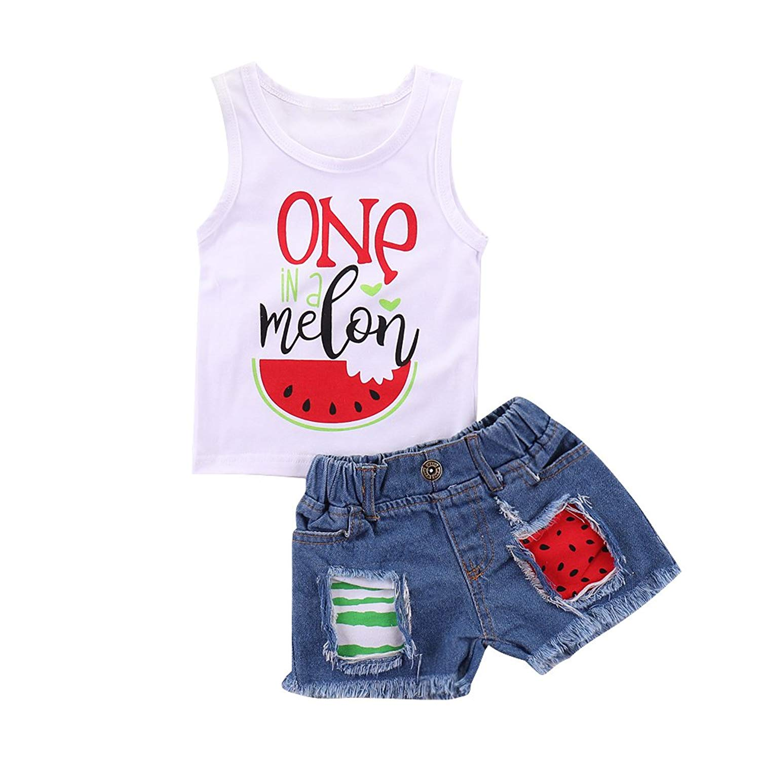 982d9e66695 Get Quotations · SOBOWO Infant Toddler Baby Boys Girls Summer Clothes Set