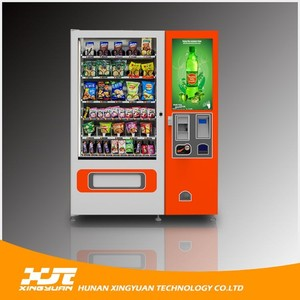 Canada Standard Snacks and Drinks Vending Machine Supports USD and credit card reader