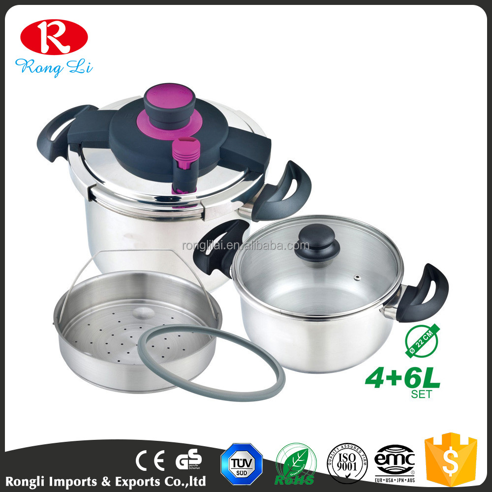 Latest new design durable low price induction base power best stainless pressure cooker