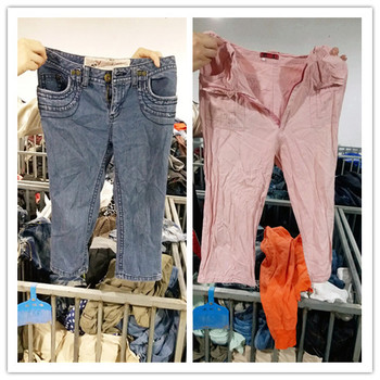 Ukay Ukay Bundle Clothes of second hand cropped trousers