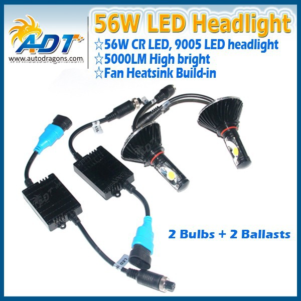 New Brights LED Headlight Conversion Kit, 56W 5000LM 9005 LED Headlight - Replaces Halogen & HID Bulbs