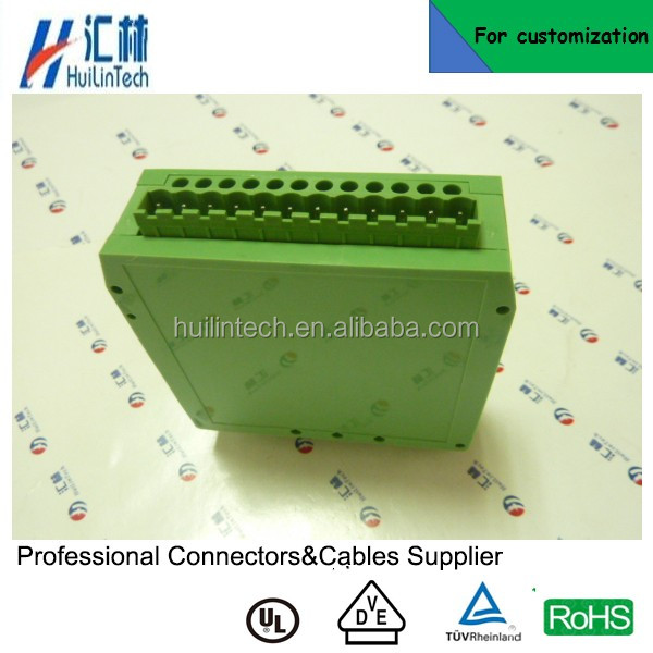 PA66 PCB board electronic terminals din rail plc enclosure