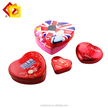 Wholesale Good supplier red heart shape gift use tin case