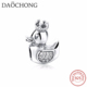 High Quality Cheap Wholesale Fashion Solid Silver Duck Charms bead