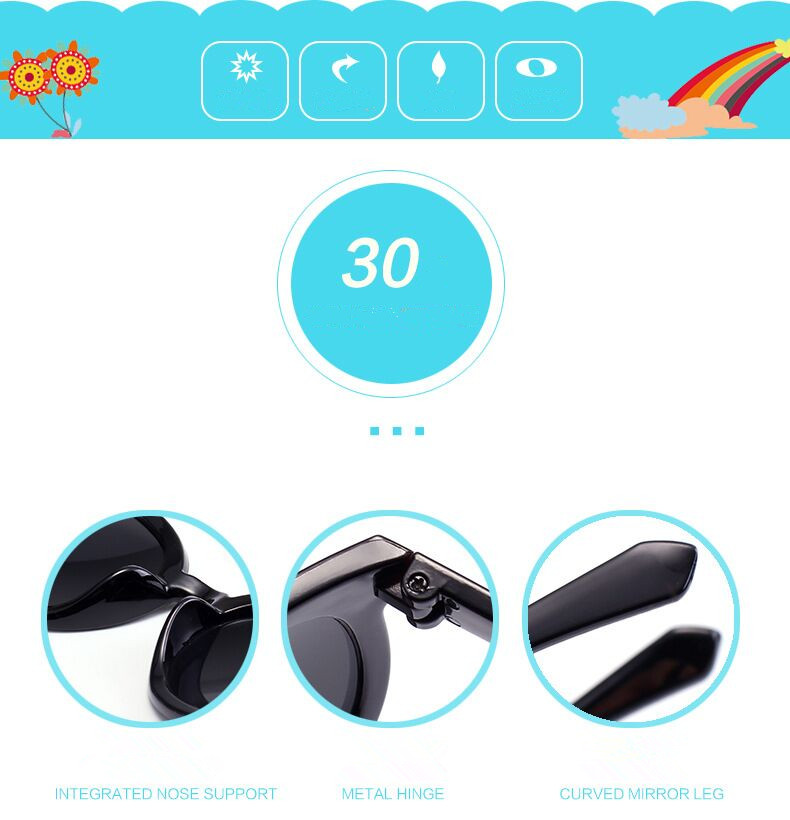 trend children glasses sunglasses color matching fashion rice spike arrow sunglasses trendy beach Sunglasses
