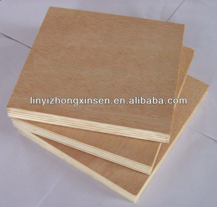 okoume face and back plywood for furniture materials