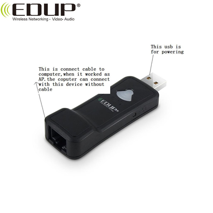EDUP Brand 300Mbps MTK7628KN  WiFi Repeater WiFi Dongle For Android TV Box