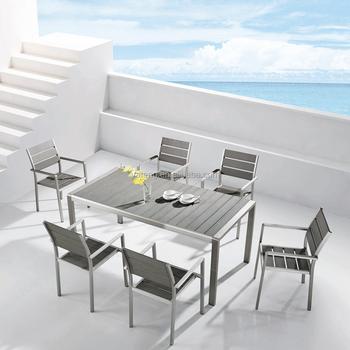 Terrastafel Met 6 Stoelen.Aluminium Ourdoor Goedkope Moderne Tafel Set Met 6 Stoelen Buy