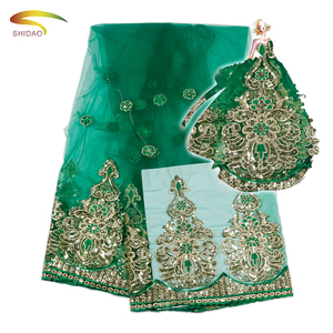 2017 New Arrival Indian Beautiful Green Sequin lace fabric for Saree border