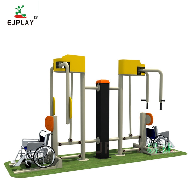 Double Sit Disable Fitness Equipment For Adult In Outdoor Fitness Device Used In Public Park And Community