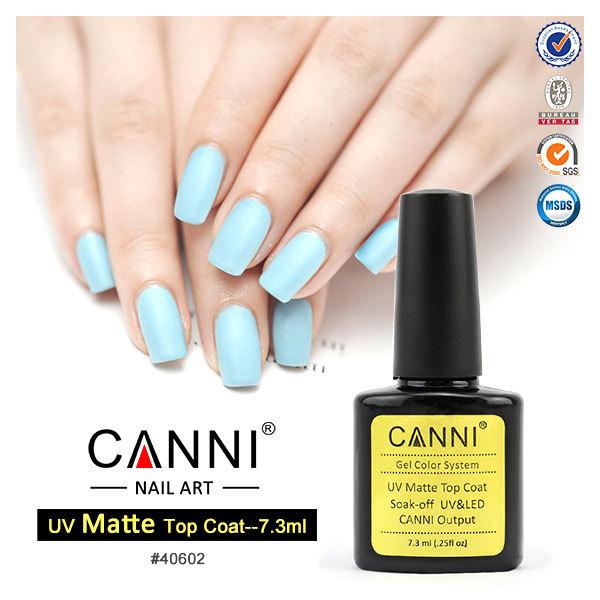40602x Canni Factory Supply 2015 New 7.3ml Matt Top Coat Uv Led Nail ...