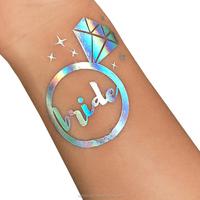 OEM New product 2017 Foil Hologram bachelorette tattoo