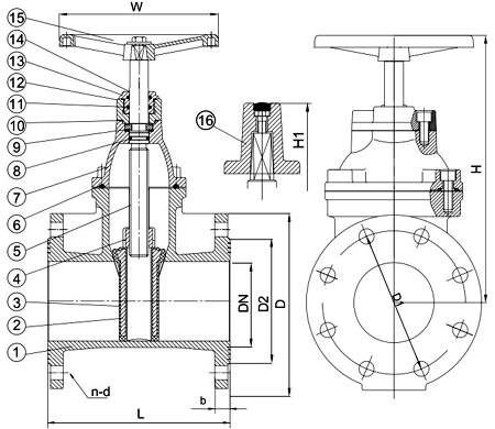 Awwa C509 Resilient Seated Gate Valve Cad Drawings Buy