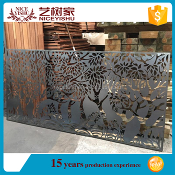 Usa Unique Beautiful Ornamental Laser Cut Screens Perforated Decorative Exterior Metal Wall Panels