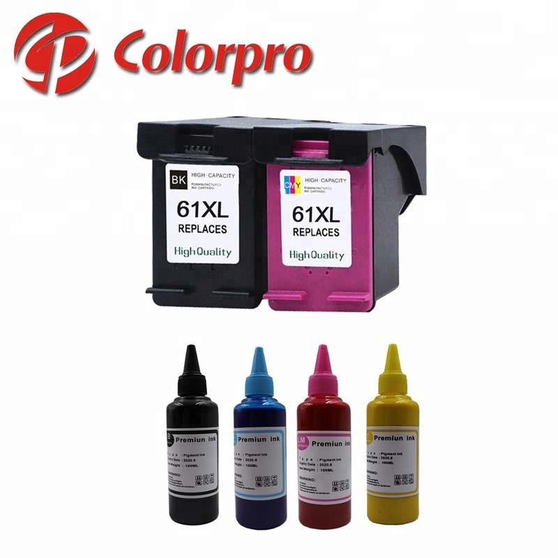 Hot Sale Deskjet 1050 Ink Cartridge 61XL Reman Ink Cartridge and A4 paper printing Dye Ink