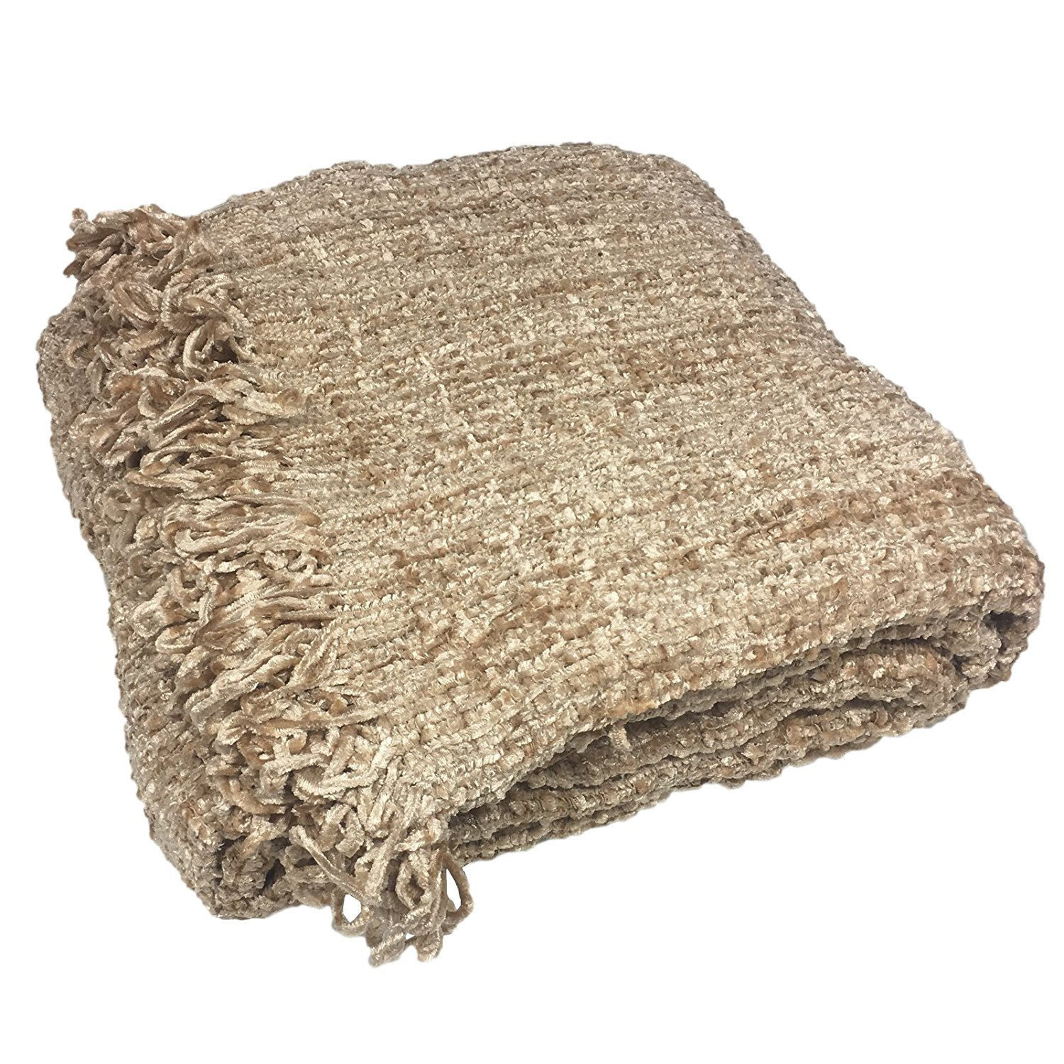 Get Quotations Luxury Chenille Throws Extra Large Thermal Woven Throw Over Sofa Bed Blanket Beige Natural