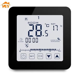 Wired Digital Programmable Water and Gas Boiler Thermostat for Room/House Floor Heating Thermoragulator