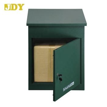 3010 Home Garden Lockable Anti Thief Metal Parcel Drop Box For Parcelails