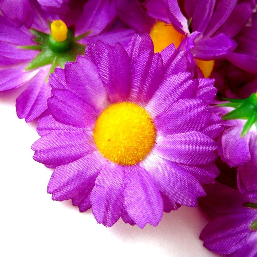 Buy 12 silk violet gerbera daisy flower heads gerber daisies 12 silk violet gerbera daisy flower heads gerber daisies 175 artificial flowers heads fabric floral supplies wholesale lot for wedding flowers izmirmasajfo