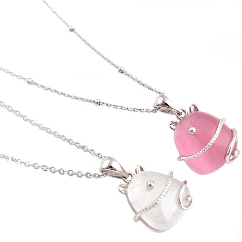 Cat 펜 던 트 necklace, silver 펜 던 트 necklace, onyx 목걸이
