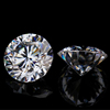 Wholesale high quality 6.5mm 1 carat synthetic White Round Diamond Cut Loose Moissanite price per carat