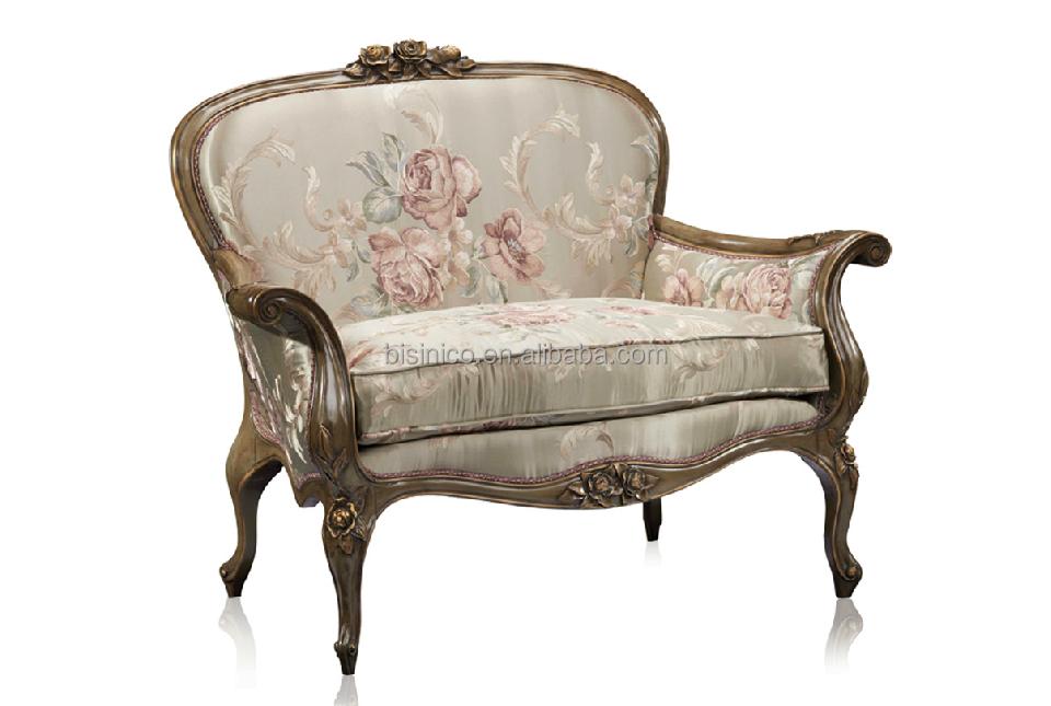 Bisini muebles silla de lujo, El brazo de madera maciza antigua ...