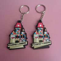 China Wholesale Merchandise 2016 Custom Design Building Castle Rubber Keychain