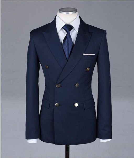 0a68a27ffa88ff Made to measure slim fit half canvas double breasted suits blazer for men