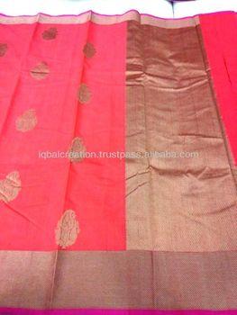 fbb1286bbc54f Handloom Banarasi Silk Saree - Buy Banarsi Silk Handloom Saree ...