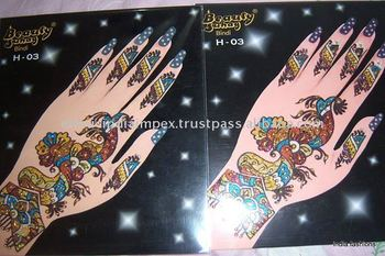 Henna Mehndi Stickers : Mehndi henna bindi sticker paypal buy tattoo