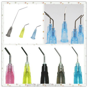 China Wholesale Pre-bent Dispenser Tips , Medical Supply Dental Syringe Needles