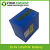 competitive price and long cycle 22.4v 7S10P lifepo4 battery pack with 18650 1500mah lifepo4 cell