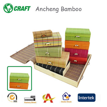 high quality eco-friendly cute bamboo file box for sale