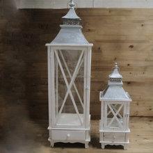 Venta al por mayor l mparas de vela titular de madera for Lanterne a poser exterieur