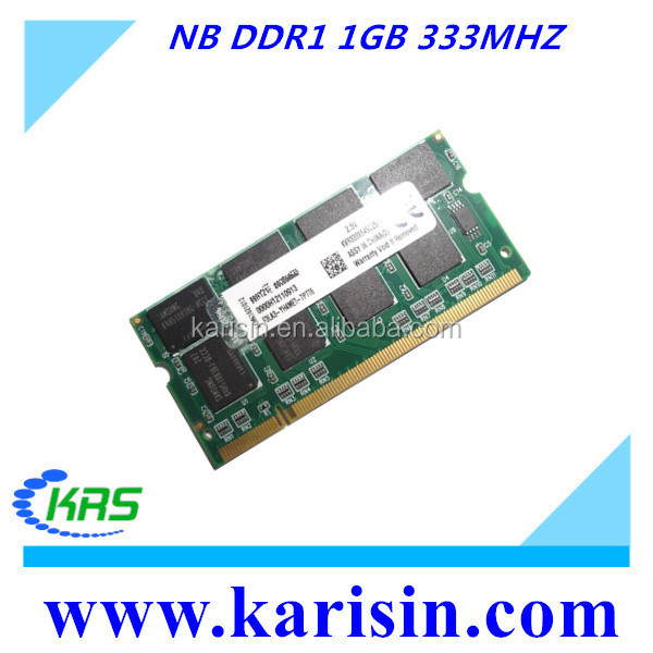 SODIMM ram laptop ddr1 1gb 333 PC2700 memory for 2015
