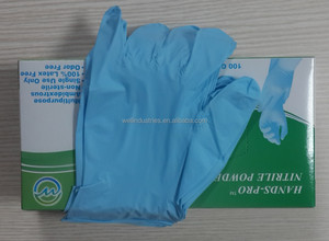 2016 NEW 10% save 3.0 mil powder free nitrile gloves disposable