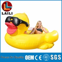 GAME Giant Inflatable Floating Riding Derby Duck Pool Float /walk on water duck / Popular Series!