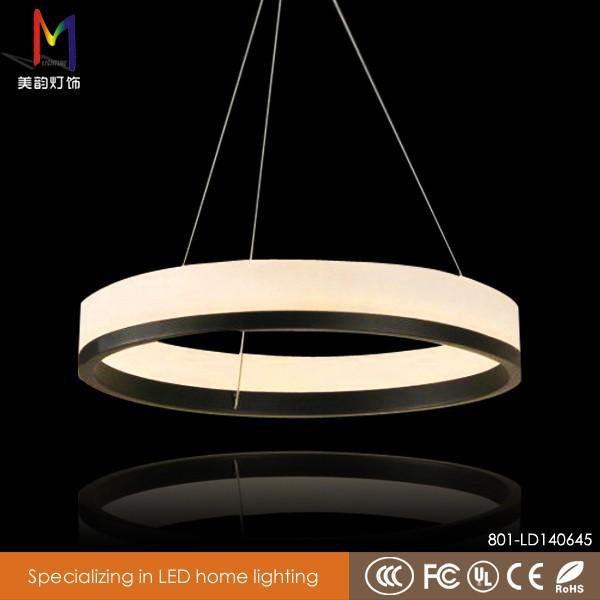 Moderne ronde led lamp eigentijdse ronde led color changing acryl kroonluchter afstandsbediening - Eigentijdse kroonluchter ...