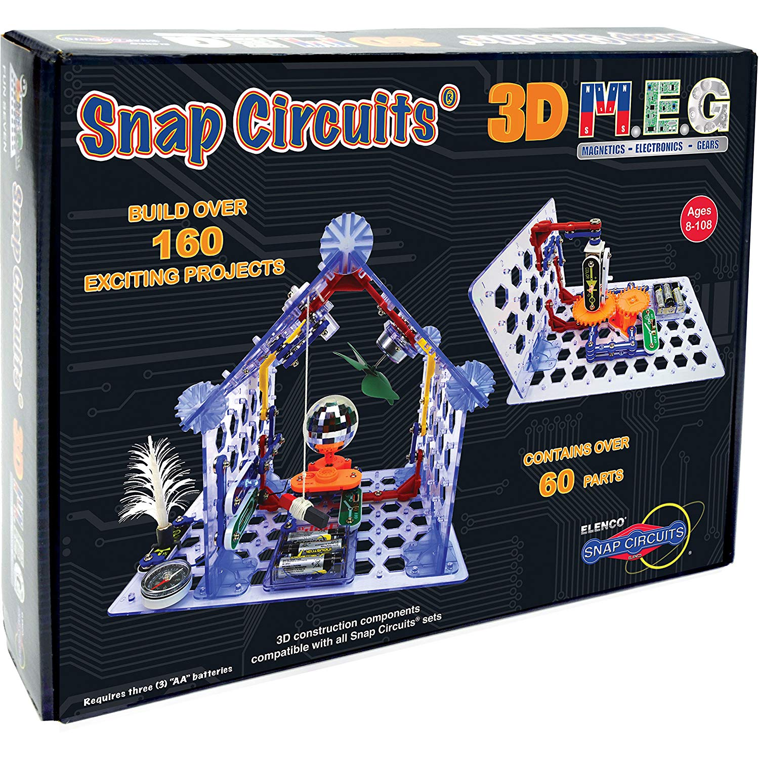 Hard Organizer Storage Case For Snap Circuits Jr Sc 100 Electronics With Projects Sc100 Discovery Game Kit