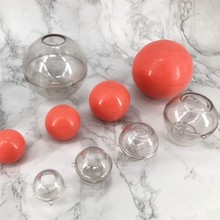 Hot sale PC plastic round ball candle mold for DIY handmade