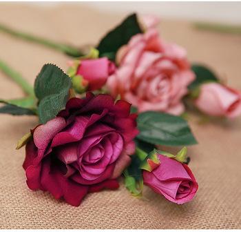 Real Look Artificial Rose Flower 3 Artificial Roses 8284