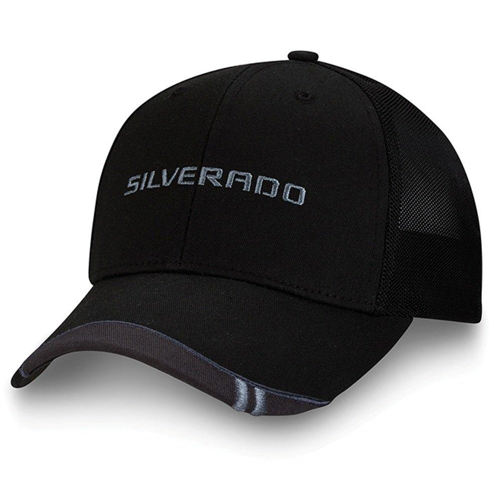 68d819764f9 Get Quotations · Chevy Silverado Black Twill   Mesh Flex Hat